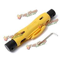 Коаксиальный коаксиальный кабель провод ручка stripper резак для кабеля rg59 коаксиальный кабель rg6 rg7 rg11 с