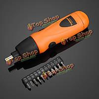 Аккумуляторный отвертка 6В электрическая дрель + отвертка набор бит 11 шт /