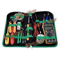 16шт БСТ-113 мульти-функциональный набор инструментов для ремонта припоя мультиметр