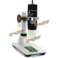 Js2 + USB 8 LED 1x-500x реальный 0.3mp/1.3mp/2mp цифровой микроскоп эндоскопа камера лупой видео