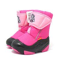 Детские зимние сапоги-дутики Demar (Демар) DOGGY розовые р.20--29 теплющие, есть опт