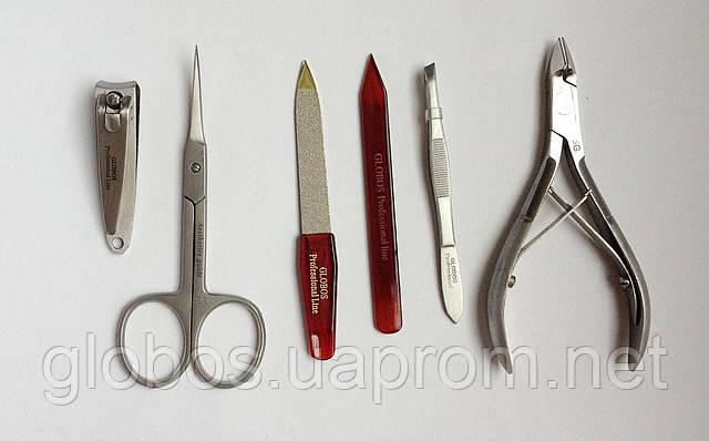 Маникюрный дорожный набор GLOBOS 710-8M - Дизайн ногтей. Инструменты для маникюра и педикюра в Киеве