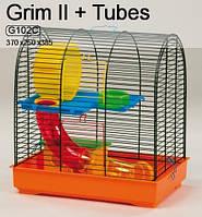 Клетка GRIM II+пластик INTER ZOO 36x24x38