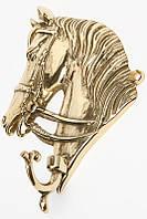 "Крючок настенный 15х13 см. ""Лошадь"" латунь"
