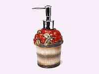 """Дозатор для жидкого мыла 300 мл. """"Яблоки"""" разноцветный, керамический"""