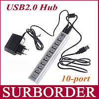 USB Hub Хаб на 10 портов