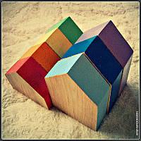 Кубики домики. Домики кубики