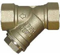 Фильтр сетчатый муфтовый латунный резьбовой ДУ 20, фото 1