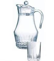 Набор/вода (кувшин 1,8л, стаканы 270мл-6шт), Arcopal Lancier, 170085, П/1