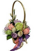 Букет из конфет Корзина с цветами