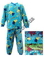 Пижама детская зимняя для мальчиков микрофибра с 1 до 6 лет Украина OL 25091