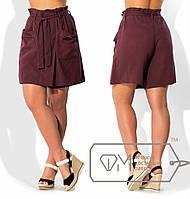 Женские шорты-юбка с карманами