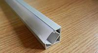 Алюминиевый профиль для светодиодной ленты угловой + Рассеиватель