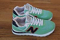 Женские кроссовки New Balance, светло-зеленые 37(23.5 см)