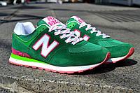 Женские кроссовки New Balance, зеленые 37(23.5см)