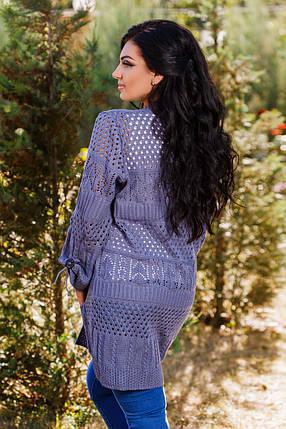 Д2001 Кардиган в расцветках размер 50-56 Джинс, фото 2