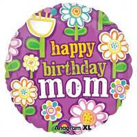 Гелевый шарик С днем рождения Мама!  на День рождения