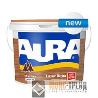 ТМ Aura Lasur Aqua - декоративно-защитное средство для древесины (ТМ Аура Лазур Аква), 9л.