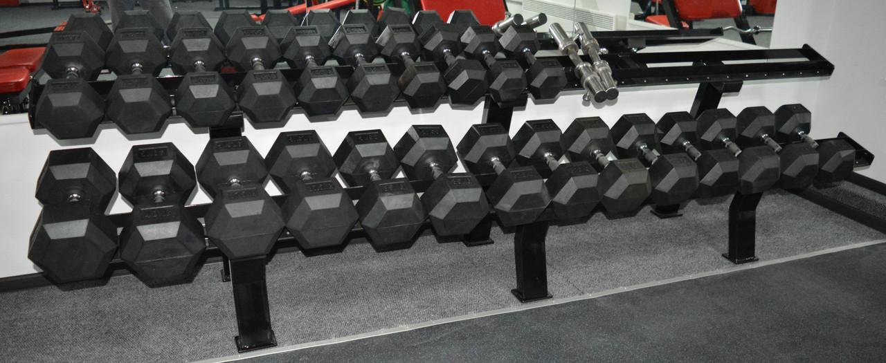 Гантельный ряд обрезиненный 12,5-40 кг