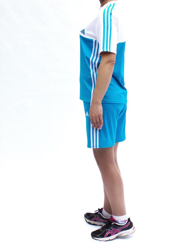 Летний спортивный костюм женский - цвет белый с бирюзой - купить интернет-магазин - фото teens.ua