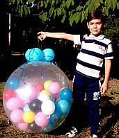 Шар-сюрприз 80 см. 50 шариков на День Рождения, Юбилей, Свадьбу