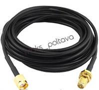 Удлинитель WI FI кабель 5м антенны RP-SMA