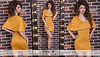 Женское летнее трикотажное платье-обманка