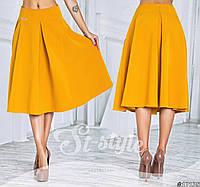 Женская юбка-колокол яркая миди