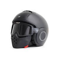 Супер мото шлем Shark Raw, черный, белый, хаки