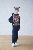 Трикотажный детский спортивный костюм с принтом