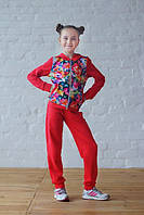 Подростковый спортивный костюм с цветочным узором