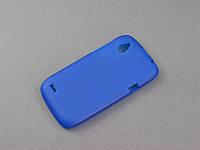 Чехол TPU для HTC Desire V T328w X T328e синий