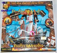 Пиратский корабль 342-12 с пиратами батарейка,музыка,свет