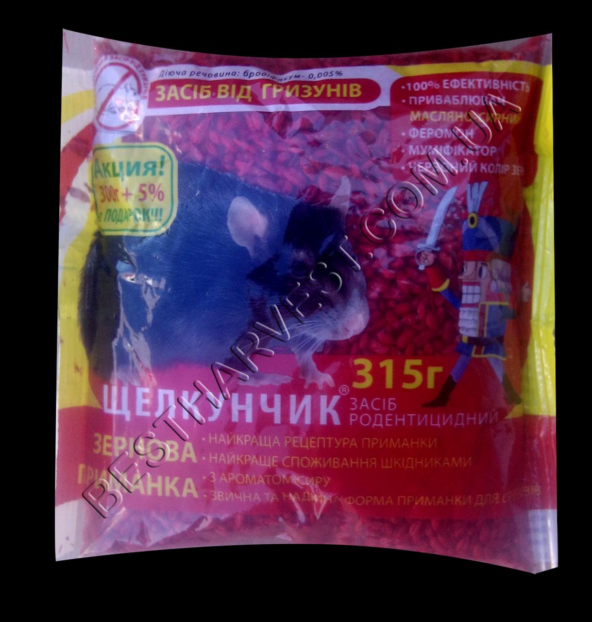 Щелкунчик зерно 315 г сыр, от крыс и мышей оригинал