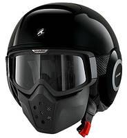Новый мото шлем Shark Raw, черный, белый, хаки