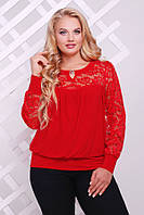 Блуза Лина больших размеров р. 56; 58 красный