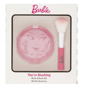 """Набор для макияжа румяна и кисть """"Барби"""" You're Blushing Blush & Brush Set"""