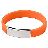 Браслет силиконовый 5 цветов оранжевый
