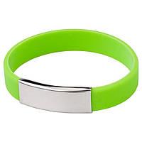 Браслет силиконовый 5 цветов светло-зеленый