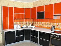 Кухня угловая с фасадами из пластика под заказ