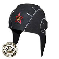 """""""Танкист"""" - шапка для бани и сауны, натуральная шерсть (черная)"""
