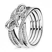 Кольцо из серебра Бесконечное сияние