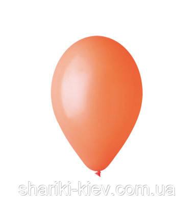 Шарик латексный 26 см. оранжевый пастель (G90-04), фото 2