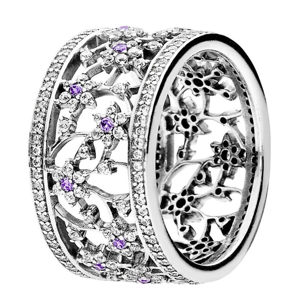 Кольцо «Незабудка» из серебра 925 пробы