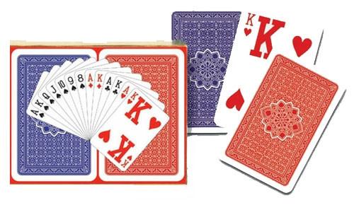Комплект - игральные карты Piatnik Superd giant index 2 колоды по 55 листов
