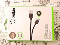 Usb Кабель Belkin для зарядки телефона MicroUsb. Зарядный кабель Белкин для Микро Юсб устройств.