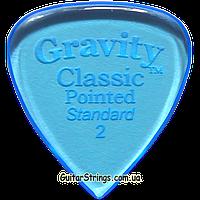 Медиатор Gravity Picks GCPS2P Classic Pointed Standard Polished 2.00 mm