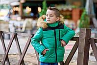 Зимняя куртка для мальчика ткань плащёвка на синтепоне 200 плотности