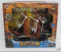 Пиратский корабль 351-2 с пиратами в коробке, батарейка,музыка,свет