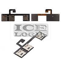 Коннектор SIM-карты для мобильного телефона HTC One M7 Dual Sim 802w , на две SIM-карты, с коннектор